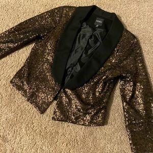 Black w gold sequin blazer - size small